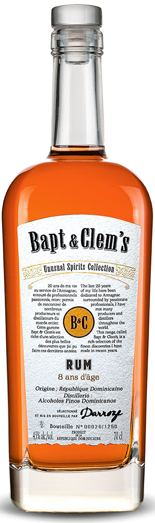 Bapt & Clem's Rum - Traditionnel 8 års rom